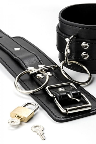 Leather Handcuffs by Grey Velvet