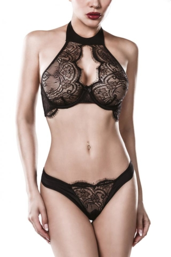 two-part Neckholder Bra Set by Grey Velvet