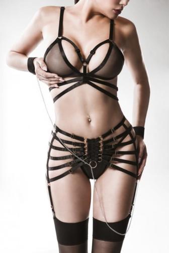 4-piece garter set by grey velevet