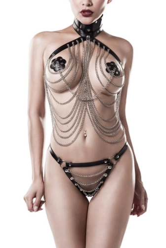 3-piece Chain Harness-Set by Grey Velvet