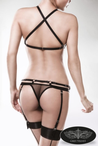 two-part Garter Bandage Set by Grey Velvet